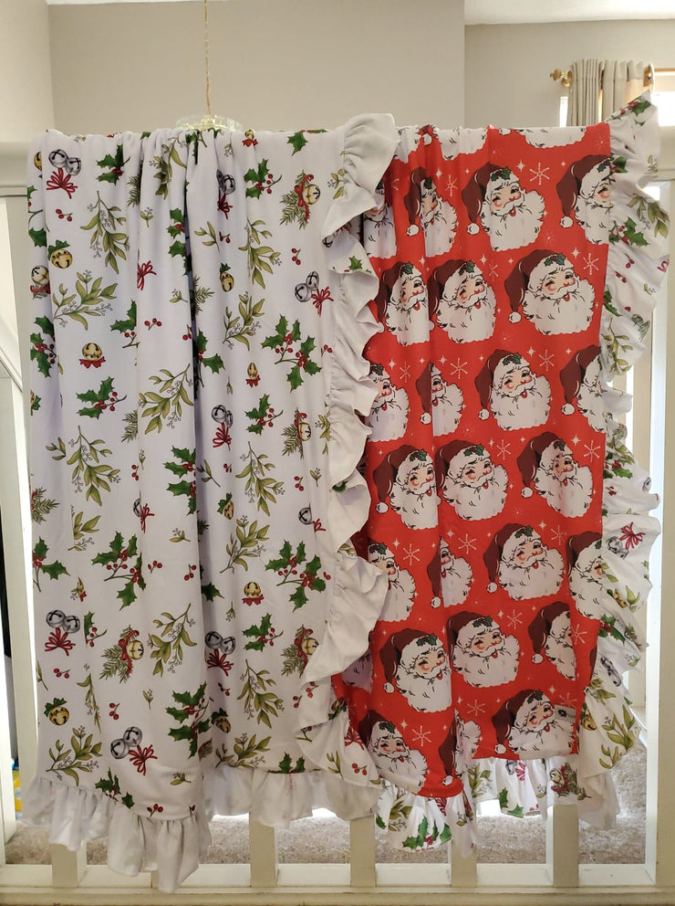 Santa Blanket-Double Sided (Ready to ship and extras)