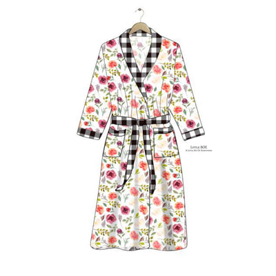 Farmhouse Floral Robe