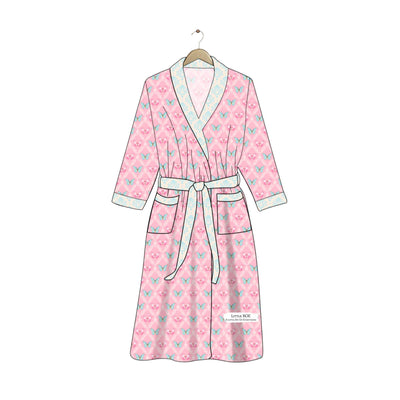 Pink Butterflies Women's Robe