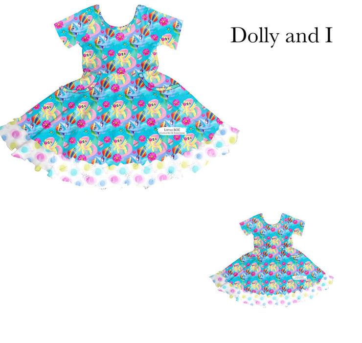 Blue MLP Dolly & I Twirl Dress