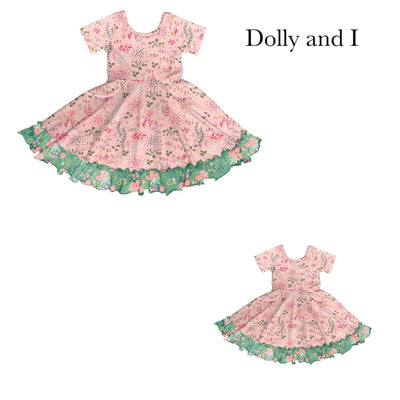 Green Garden Dolly & I Twirl Dress