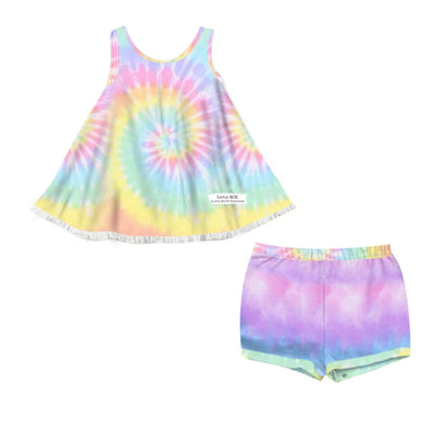 Bright Rainbow Lazy Day Tunic Set