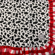 Custom Cow Print Blanket-Minky (Ready to ship)