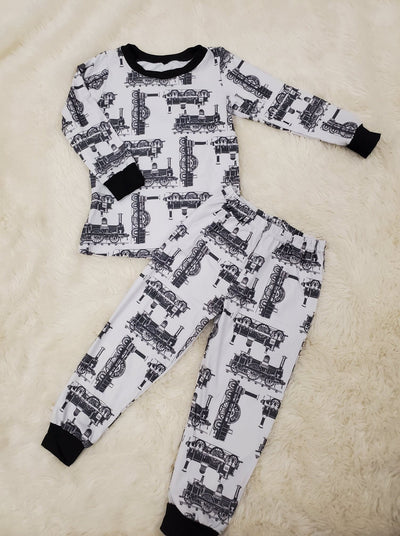 Vintage Train PJ Set (Ready to ship)