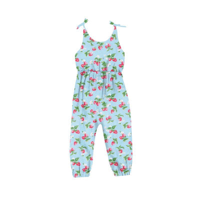 PRE-ORDER EXTRAS Blue Strawberries & Cream Pants Romper