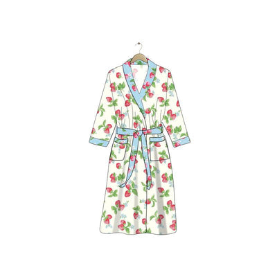 PRE-ORDER EXTRAS Blue Strawberries & Cream Kid's Robe