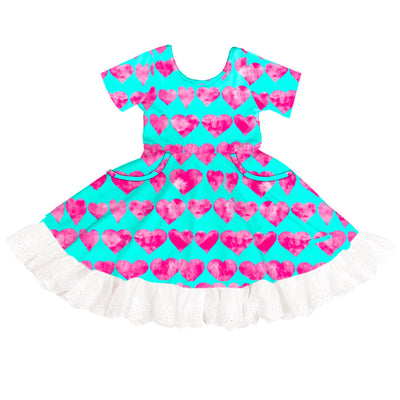 Love and Hearts Twirl Dress