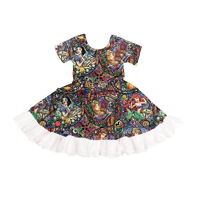 PRE-ORDER EXTRAS Stained Glass Twirl Dress