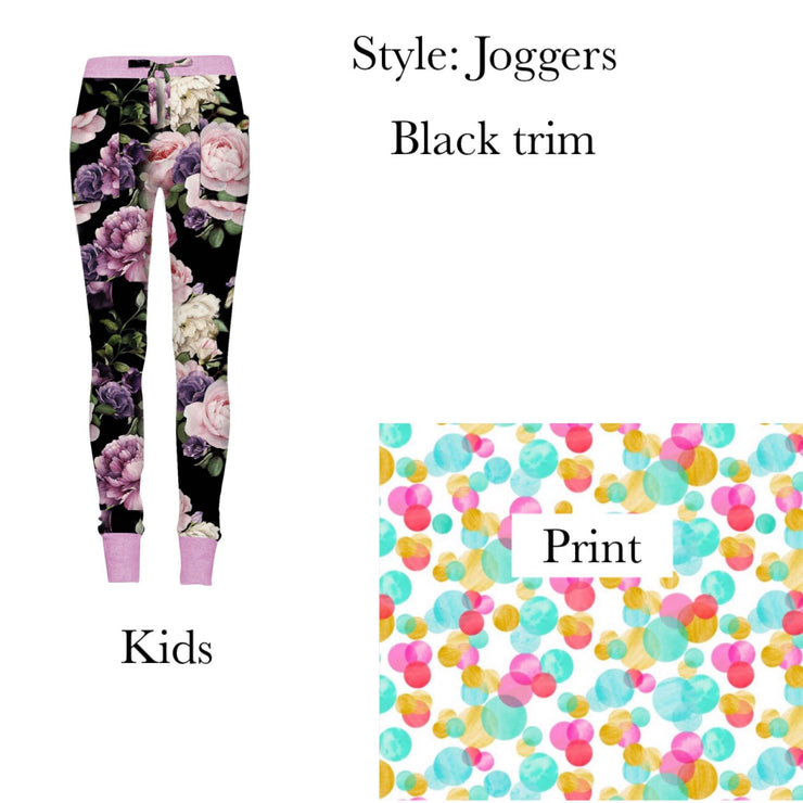 Kid's Colorful Spots Joggers