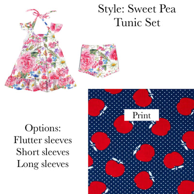 First Day of School Sweet Pea Tunic Set-3 Options