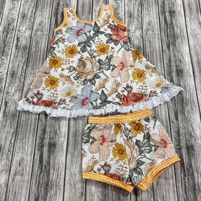 Girls Autumn Wildflowers Lazy Day Set (Ready to Ship)