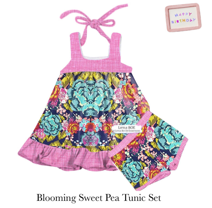 Blooming Sweet Pea Tunic Set