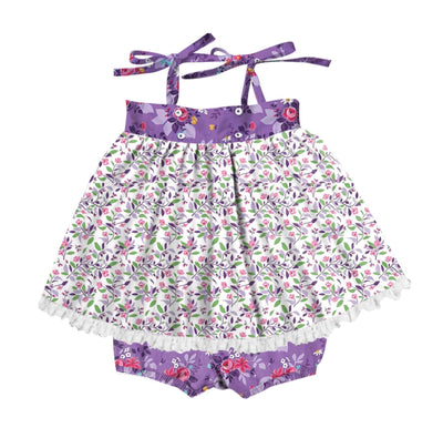 Emily in Purple Blossom and Purple Garden Set