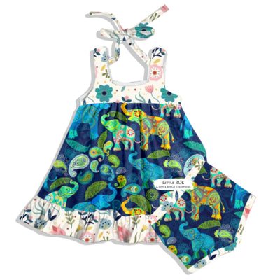 Wild Elephants Tunic Set