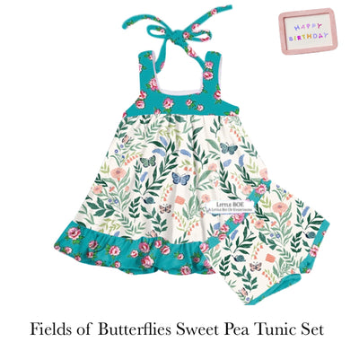 Fields of Butterflies Sweet Pea Tunic Set