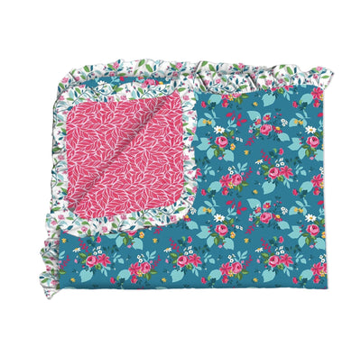 Pink Taffy and Teal Garden Double Sided Blanket