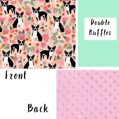 Boston Terrier Blanket Minky