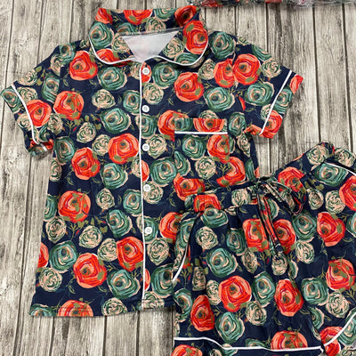 Evening Blooms Button Up Women PJ Set (Ready to Ship)