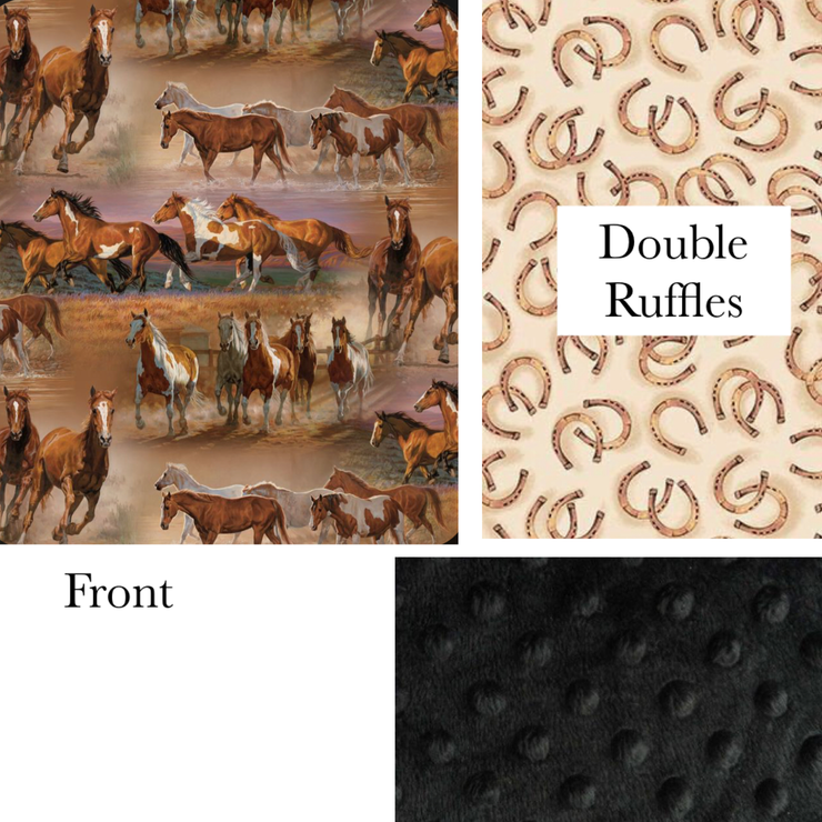 Horses and Horse shoes Blanket