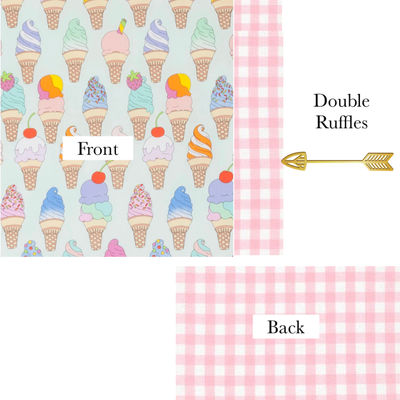 Doll Size Dreamsicle Delight Double Sided Blanket