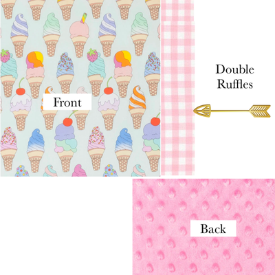 Toddler Size Dreamsicle Delight Minky Dot Blanket
