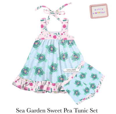 Sea Garden Sweet Pea Tunic Set