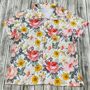 Women Pink Wildflowers Button Up Pjs  (Ready to Ship)
