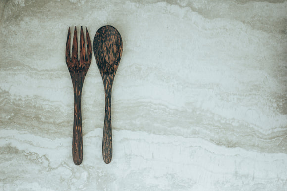 Palm wood Cutlery Set
