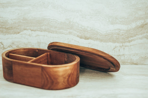 Teak Wood Lunch Box