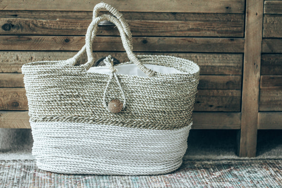Nur White & Natural Tote