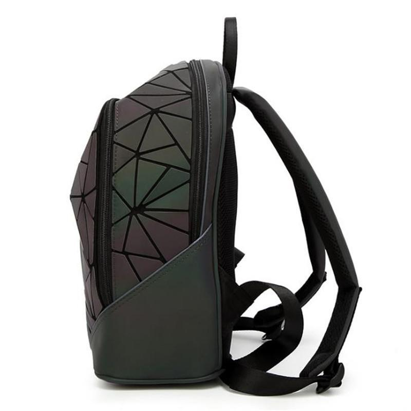 2bab490d8a Fashion PVC Geometric Luminous Women Backpack - MyTrendyHut