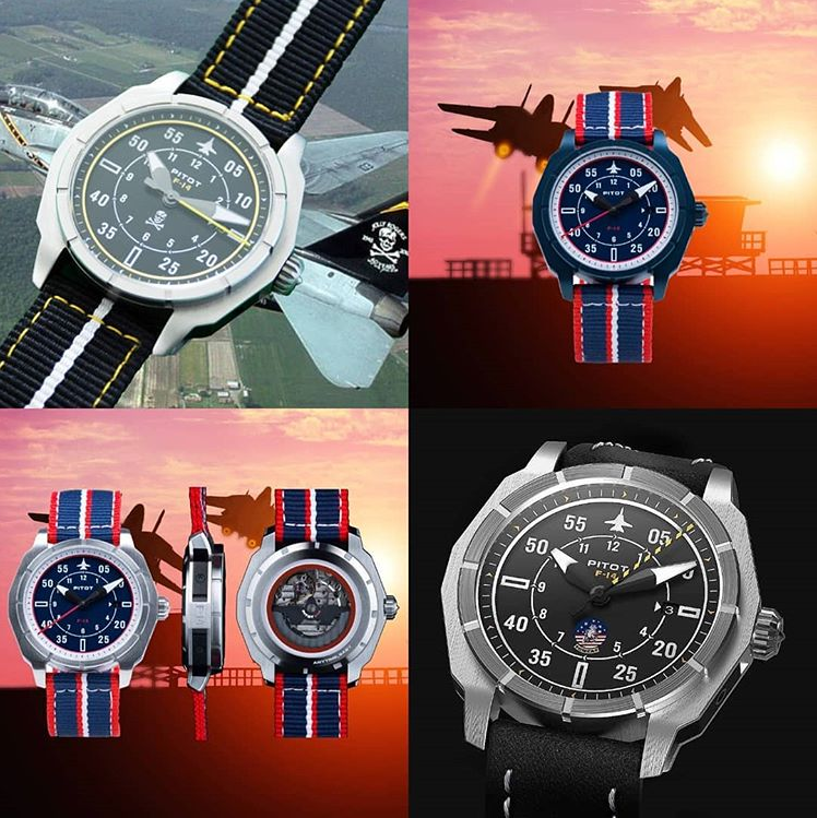 Video about Pitot watches and the F-14 Tomcat inspired watches