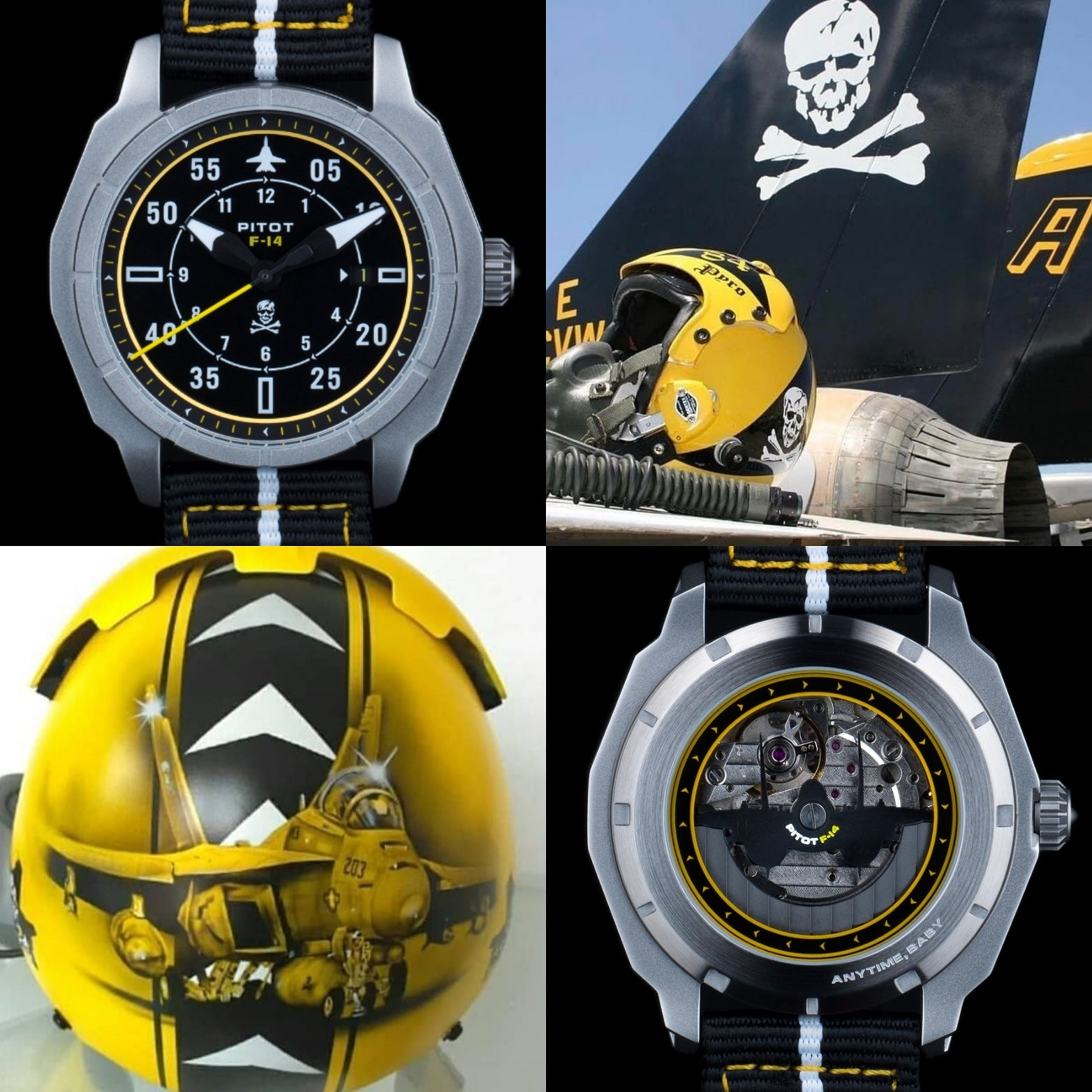 F-14 watch inspired by Jolly Rogers