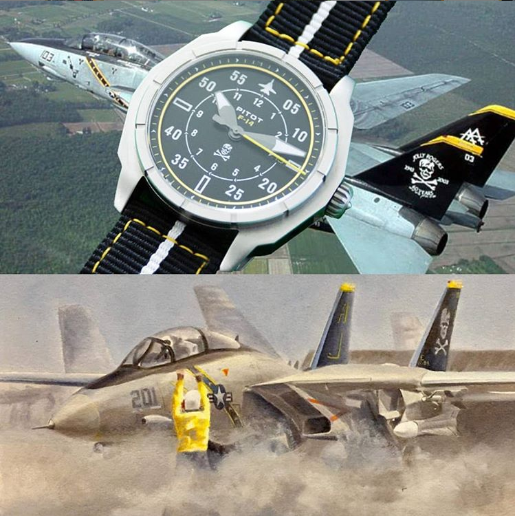 Get a watch + a F-14 sketch when back the Kickstarter campaign