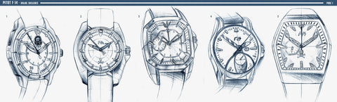 2D sketches pitot watches