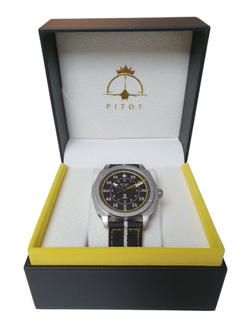 f-14 watch in leather box