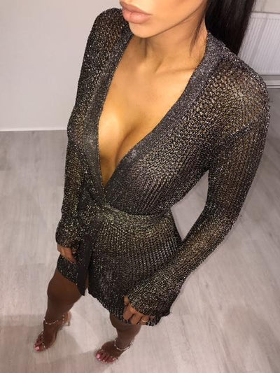Metallic Cardigan/Dress