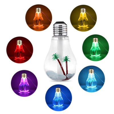 USB Ultrasonic Humidifier Home Office Mini Aroma Diffuser LED Night Light Aromatherapy Mist Maker Creative Bottle bulb