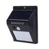 Wide Angle Solar LED Security Light - Motion Sensor Activated - No wiring Needed