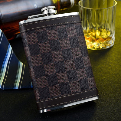 Plaid Stainless Steel Hip Flask
