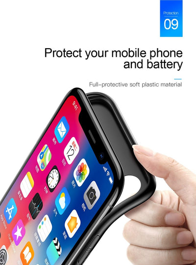 3500mAh Battery Case For iPhone X Power Bank Charging Case Portable Thin Powerbank