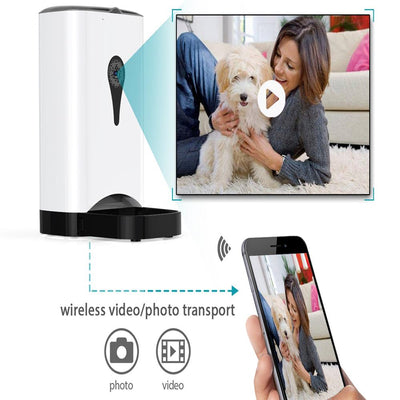 4.5L Pet Feeder Wifi Smart Automatic Pet Feeder With Video Monitor