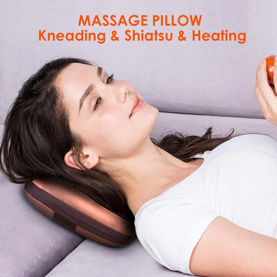 Shiatsu Kneading Massage with Heat for Back, Neck, Shoulders
