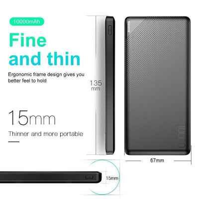 Power Bank 10000mAh for iPhone Samsung Mobile Phone External Battery