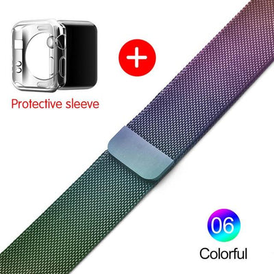 Milanese Loop Band for Apple watch 42mm 38mm Link Bracelet Strap Magnetic