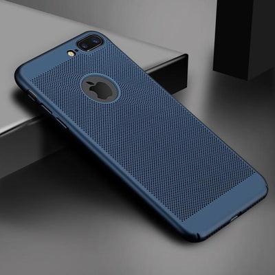 Ultra Slim Phone Case For iPhone 5 5S SE 6 6S 7 8 Plus X XR XS MAX Hollow Heat Dissipation Cases