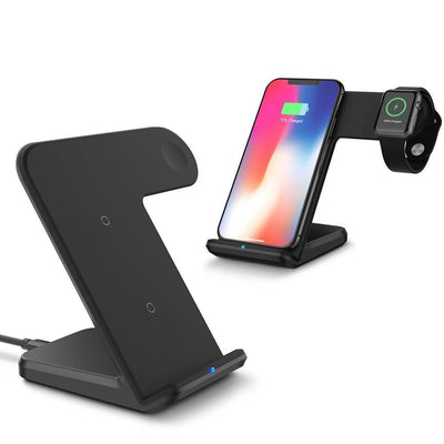 Fast Charging Qi Wireless Charger Dock Station for Apple watch and iPhone