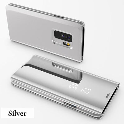 Clear View Smart Mirror Flip Case For Samsung Galaxy S9 S8 S7 S6 Edge Plus For Note 9 8 For J3 J5 J7 A5 A6 A7 A8