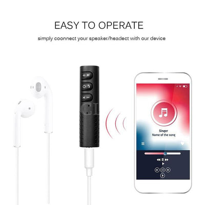 AUX Bluetooth Audio Receiver Wireless Car Handsfree Audio Receiver