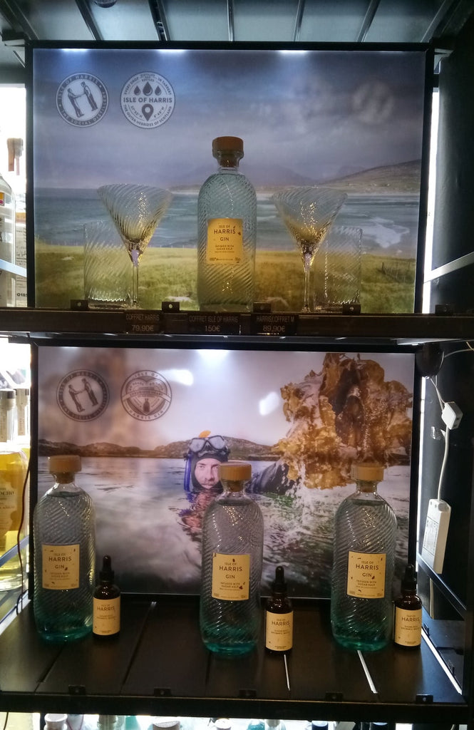 Isle of Harris Gin in LMDW, Paris.